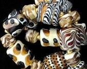 DSG Beads Handmade Organic Lampwork Glass-Made To Order Animal Print