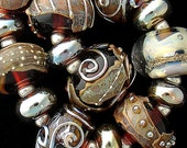 DSG Beads Handmade Organic Lampwork Glass-Made To Order Dark Chocolate
