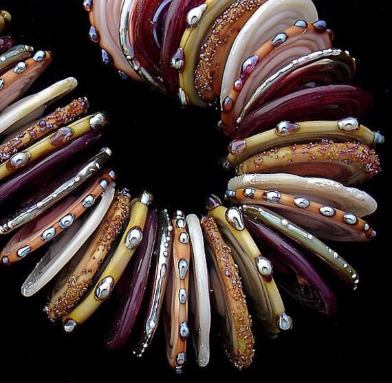 Glass Beads,Disc Beads,Beads,Lampwork Discs,Handmade Lampwork,Debbie Sanders,Beads for Jewelry,Jewelry Supplies,Beaded Bracelet,Disc Bead
