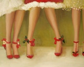 Deck The Heels- Set of Six Christmas Cards