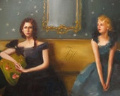 Wild Violet And Bluebelle Await A Lecture On Propriety- Limited Edition Print