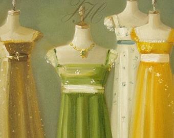 Austen Dresses-Art Print