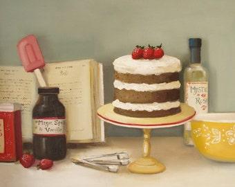 The Magic Spice Cake.  Art Print