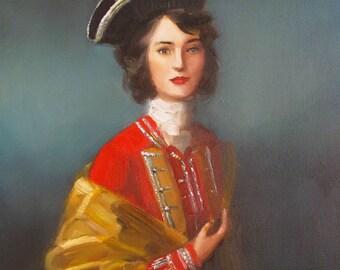 Portrait. Fair Captain. Art Print