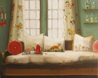 The Fox In The Bed- Limited Edition Print
