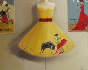 In Love With A Matador Dress- Limited Edition Print