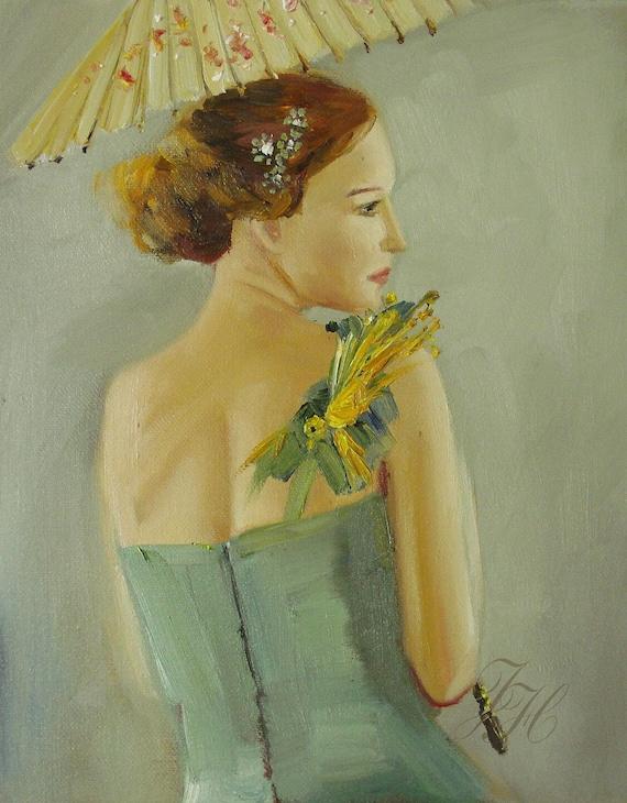 Grace's Parasol.  Art Print
