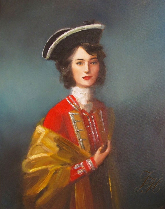 Portrait. Fair Captain. Art Print