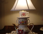 English China Teapot Lamp - FREE SHIPPING TO CANADA  AND U.S.