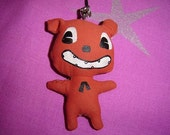 RESERVED FOR Beckynot................. DIY Handmade SCARY HALLOWEEN Teddy...Dog... Mobile Charm...Handbag Charm.