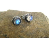 Labradorite and Sterling Post Earrings