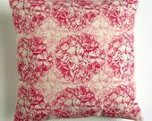 Cushion Cover - Double Geranium in Red