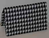 Black and White Houndstooth Business Card/Credit Card Holder