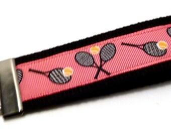 Wristlet Key Fob - Tennis - Tennis gifts - team gifts - Webbing