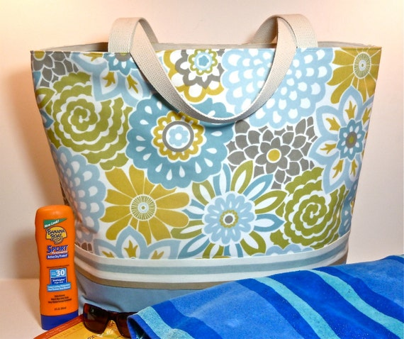 Extra Large Floral Beach Bag/Tote