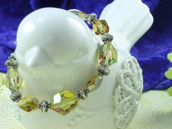 Swarovski Verde Nugget Bracelet - Reserved for Rose