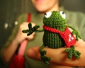 MEET MY SISTER frog amigurumi