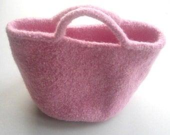 Pink Felted Bag Handbag Purse