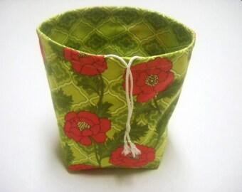 Reversible Drawstring Sock Knitting or small project bag Kip bag knitting bag