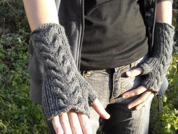 PDF Cable knit wrist warmers knitting pattern by ...