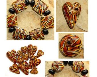 Tiger Stripe Lampwork Bead Tutorial - by Diane Woodall