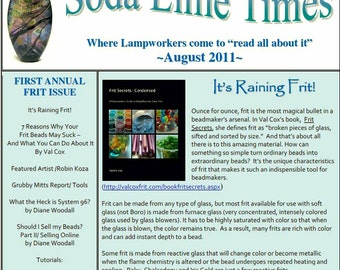 August 2011 Soda Lime Times Lampworking Magazine - by Diane Woodall