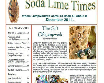 December 2011 Soda Lime Times Lampworking Magazine - by Diane Woodall