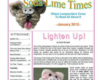 Soda Lime Times Lampworking Magazine - January 2012 by Diane Woodall
