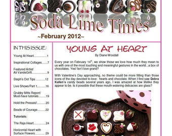 February 2012 Soda Lime Times Lampworking Magazine -  by Diane Woodall