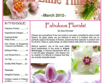March 2012 Soda Lime Times Lampworking Magazine - by Diane Woodall