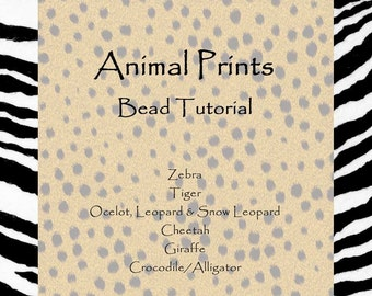 Lampwork Bead Tutorial -  Animal Prints  by Becky Mason and Diane Woodall