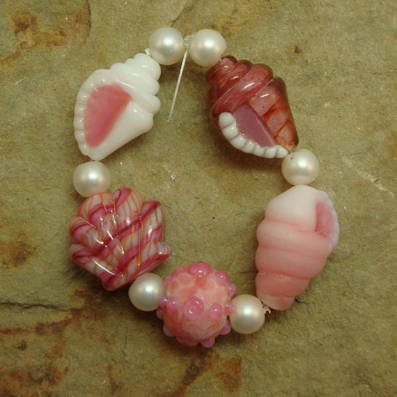Unique Beaded Periwinkle Seashell Coloring Page: Sale Peach On The Beach Tiny Seashell Beads Five