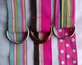 Womens Belt - Girls Belt - Striped Belt - BumbleBeeBottomsBoutique