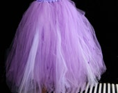 Lavender Pastel Purple and White Formal Alternative Wedding Skirt All Sizes