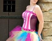 Trashy Little Rainbow TuTu adult ALL Sizes MTCoffinz