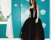 Black and Bubblegum Pink Formal Alternative Wedding Skirt All Sizes MTCoffinz