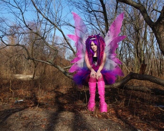 Cheshire Cat Pink Purple trashed ragged Adult ALL SIZES MTCoffinz