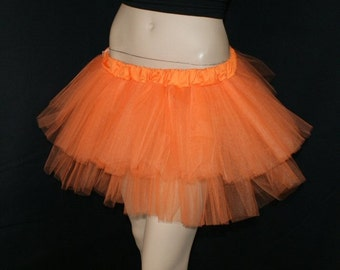 Neon Day Glo Orange adult dance tutu adult ALL SIZES MTCoffinz