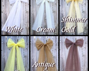 Custom Color Tulle Bow Add-On Accessory MTCoffinz