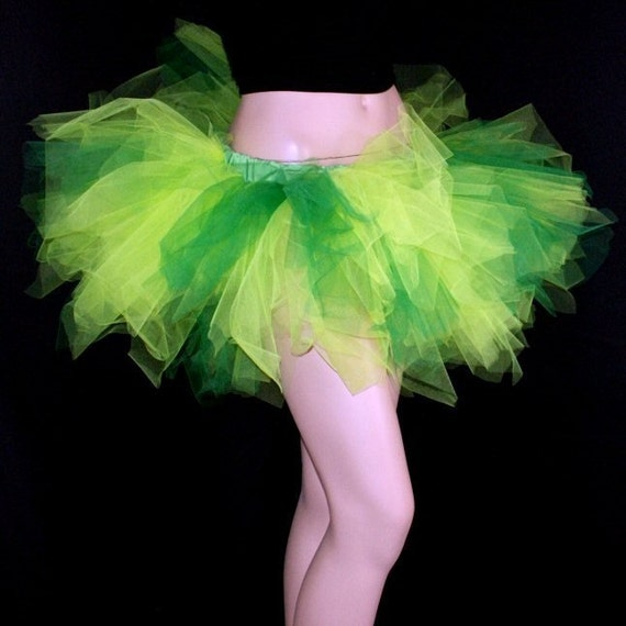 UV Absinthe Fairy Green Ragged Torn TuTu  Adult ALL Sizes MTCoffinz