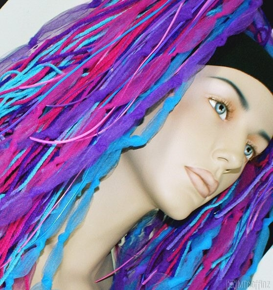 Neon Faerie Cyber Dreads Pink Purple Teal By Mtcoffinz On Etsy