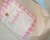Pretty Personalised Drawstring/ PE/ Gym/ Ballet/ Toy/ Nappy/ Diaper/ School Bag