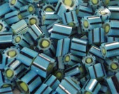 """Handmade Murrini Chips COE 104 For Lampwork Artists """"Turquoise Tide"""" by Solaris Beads MB25"""