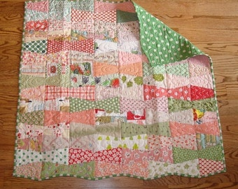 Baby Tumbler Bows Quilt Pattern - PDF download pattern