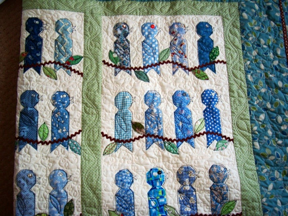 In the Leafy Treetops Birds Quilt Pattern For Download