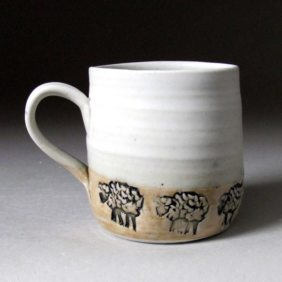Small Sheep Mug in White