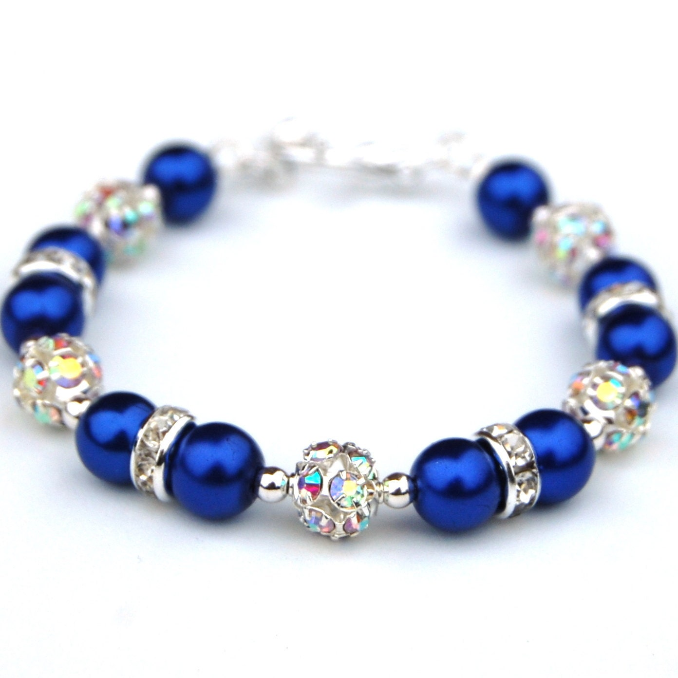 Royal blue bracelet royal blue wedding jewelry by amidesigns