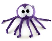 Stuffed Animal Ball Toy - Octopus - Baby Ringo - Many colors available, big eyes, knotted strings, personalization available