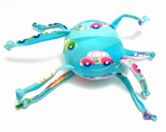 Plush handmade toy Happy Hippy Cars - Colorful VW Bugs