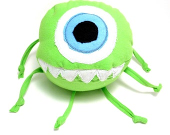 Soft Baby Toy - Mike the One-Eyed Monster - ZadyCreature - bright green